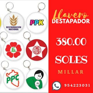 Llavero Destapador Campaña Politica Arequipa