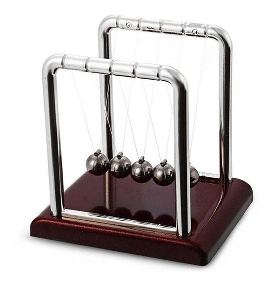 Pendulo De Newton Decoração Jogo De Bolas Enfeite Escritório