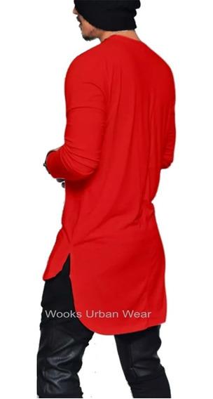 Kit 3 Camiseta Camisa Blusa Longline Oversized - Atacado