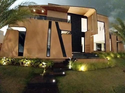 Sobrado Com 4 Dormitórios À Venda, Construído Em 2 Lotes, R$ 5.500.000 - Alphaville Nova Esplanada I - Votorantim/sp, Próximo Ao Shopping Iguatemi. - So0113 - 67640783
