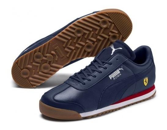 Tenis Puma Ferrari Azules Unisex Jr 100% Originales En Caja