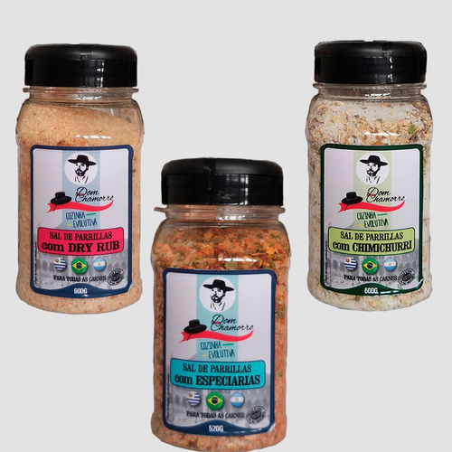 Sal De Parrilla Especiarias, Dry Rub E Chimichurri