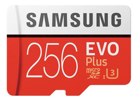 Samsung Evo + Cartão Micro Sdxc Ush-1 U3 256gb Class10 100m