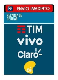 Recarga De Celular Online Oi Tim Claro Vivo R$20,00 Imediato