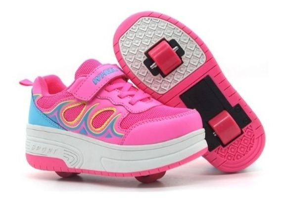 Zapato Patin Patines Rollershoes 1o2 Rueda Ruedita Niño Niña