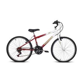 Bicicleta Aro 24 Live Branca E Vermelho Verden Bikes