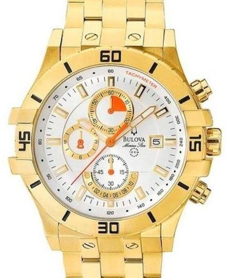 Relógio Bulova Masculino Star Marine Dourado -wb30999h