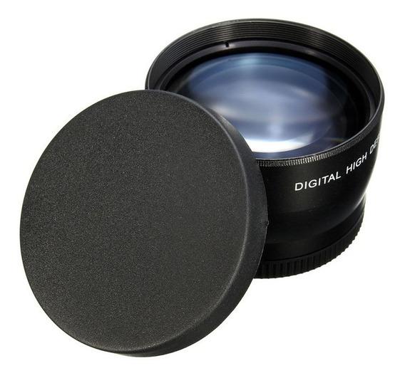 Super Lente Telefoto 67mm 2.2x Câmera Dsrl Sony Canon Nikon