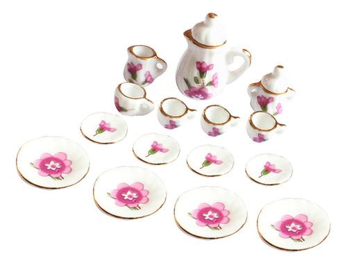 Imagen 1 de 6 de 15 Piezas 1/12 Dollhouse Miniatura Tulipán Comedor Ware