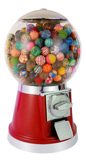 Chiclera Pelotera Esfera Color Rojo Cualquier Moneda