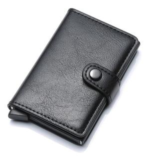 Carteira Couro Bloqueio Rfid Porta Cédulas Ejeta Cartões