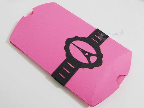 10 Embalagem Caixa Travesseiro Pillow Box - Lembrancinhas