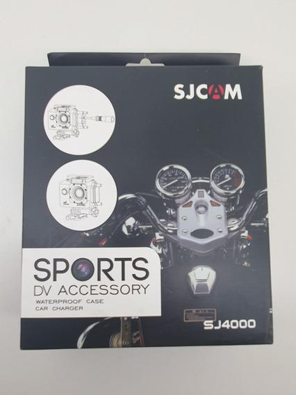 Caixa Estanque Com Carregador Sj4000 Para Viagem De Moto