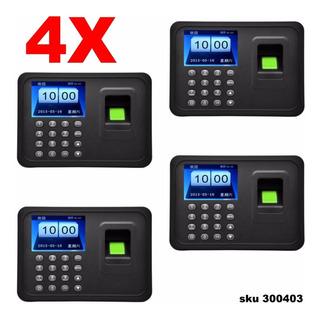 4 Reloj Biometrico Control Asistencia Huella & Password W01