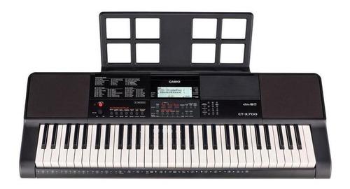 Imagen 1 de 3 de Teclado musical Casio Portable CT-X700 61 teclas Negro