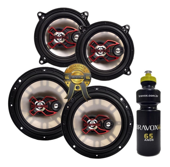 Alto-falante Triaxial Bravox B3x60 6 +b3x50 5 200rms+brinde
