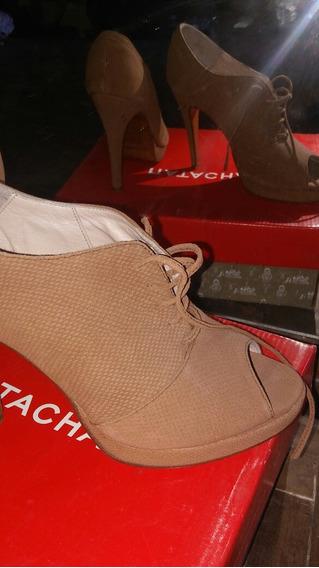 Zapatos Natacha Botas Botinetas De Cuero Legitimo 39