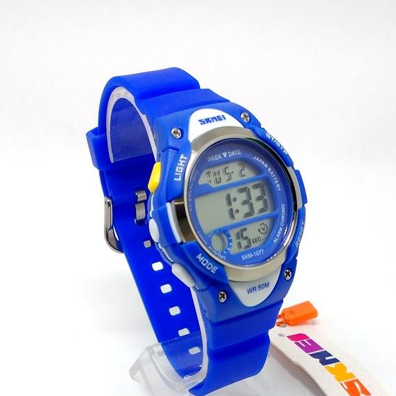 Relógio De Criança Masculino Feminino Pulso Digital C\ Brind