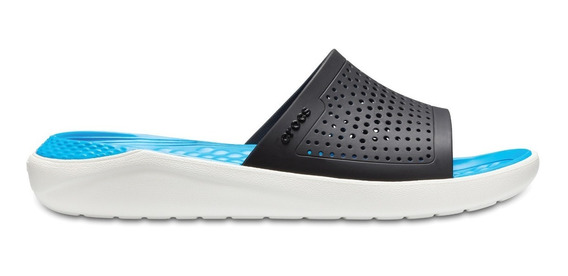 Sandalia Unisex Crocs Literide Slide Azul Marino Azul Claro