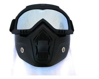 Goggles Tipo Fox Mascara Careta Motociclista Gotcha Espejo