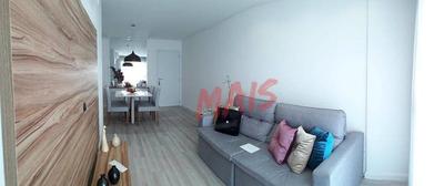 Apartamento Com 2 Dormitórios À Venda, 75 M² Por R$ 600.000 - Embaré - Santos/sp - Ap5103