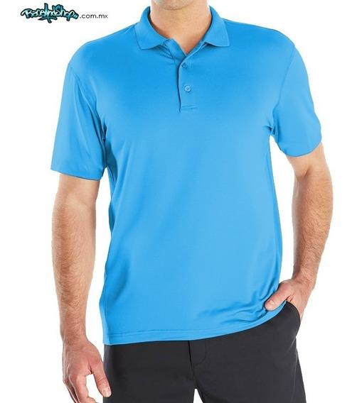 Playera Azul Cielo Premium Tipo Polo Dryfit!