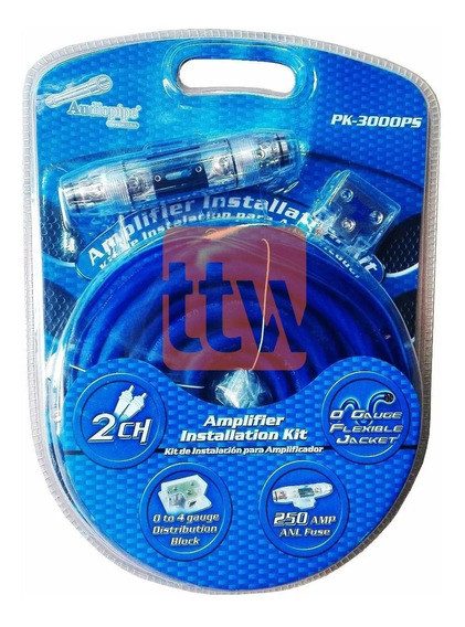 Kit Instalacion Audiopipe 0 Gauge Flex 3000 W Pk-3000ps P-i