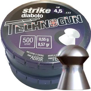 Chumbinho 4.5 Carabina De Pressão Strike Technogun 1000 Unds