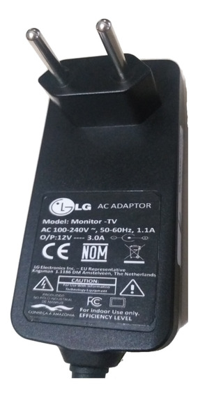 Fonte Monitor LG 12v 3a Bivolt Automática Garantia 3 Meses