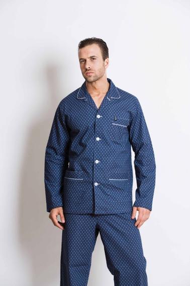 Pijama Hombre Manga Larga Pantalón Largo Tipico Talles 56/60