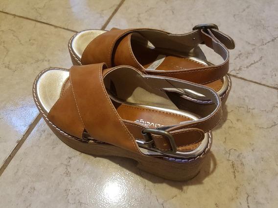Sandalias Con Plataforma Talle 35 De Moda