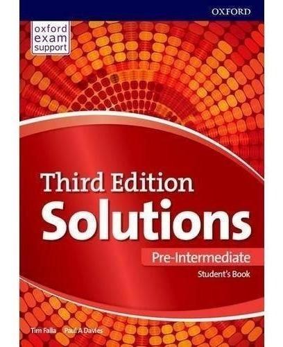 Solutions Pre Intermediate - Student´s Book - 3rd Ed Oxford