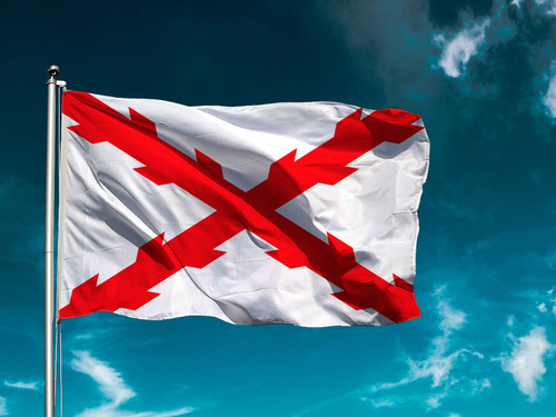 Bandera De Ela Cruz De Borgoña 90 X 60 Cm