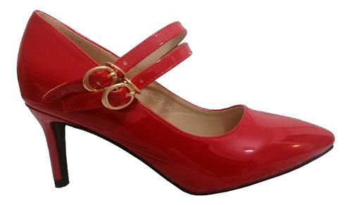 Imagen 1 de 2 de Zapato De Mujer Pg765-7    Rojo