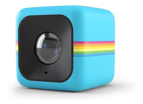 Câmera De Ação Full Hd Cube Azul Polaroid Polcubelsbl
