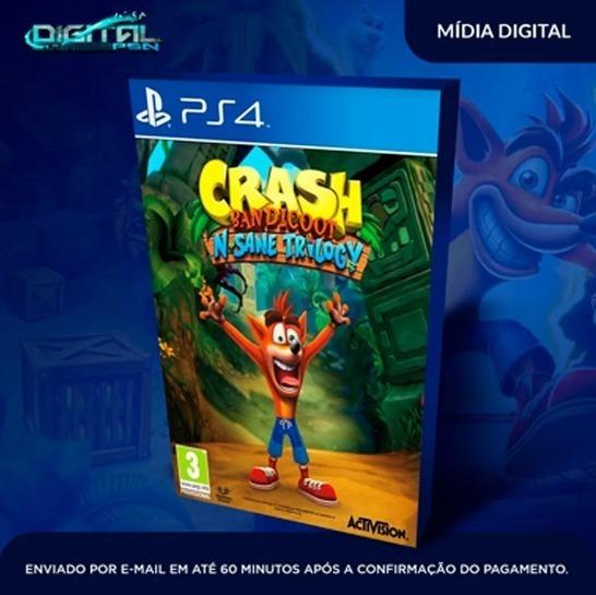 Crash Bandicoot N.sane Trilogy Ps4 Midia Digital Envio Rpd.