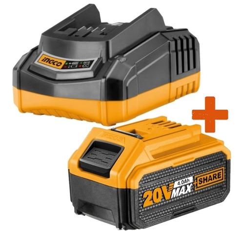 Kit Cargador Rapido 20 Volt + 1 Bateria 20v 4ah Ingco P20s