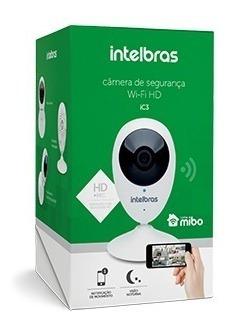 Câmera De Segurança Intelbrás Ic3 Mib Wifi Branco C/ Suporte