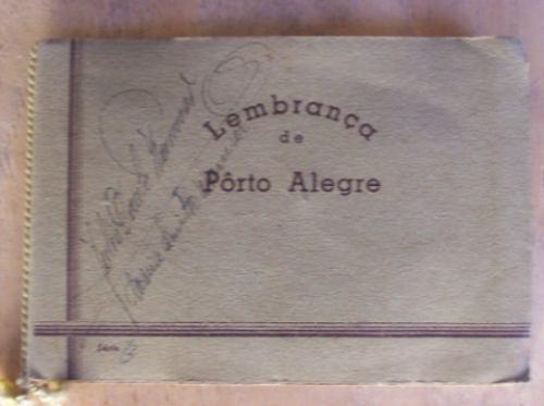 Antiguo Album Con 10 Postales De Porto Alegre