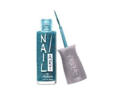 Esmalte Nubar Nail Art Blue Glitter Novo Nf