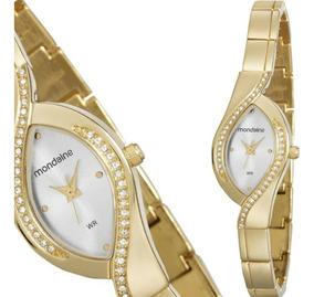 Relógio Feminino Mondaine Dourado Original Pequeno 53565
