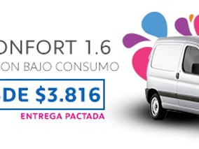 Partner Confort 1.6 N Cuota Desde $3816