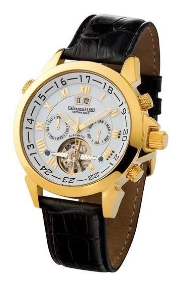 Relógio Calvaneo 1583 Astonia Gold White Automatico