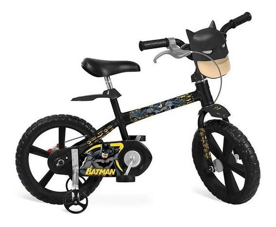 Bicicleta Aro 14 Batman Preta - Bandeirante