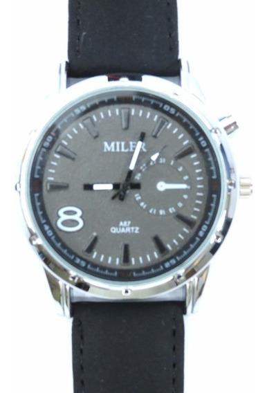Relógio Masculino Miler Modelo A87 De Pulso
