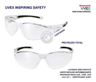 Oculos Proteçao Segurança 805xtr Antiembaçante Uvex Original