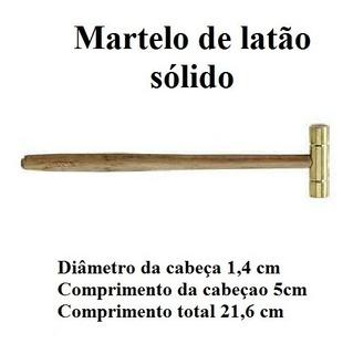 Martelo Sólido Latão Luthier P/ Instalar Trastes