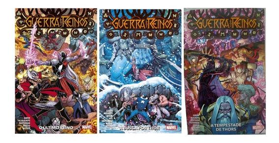 Guerra Dos Reinos Volumes 1,2 E 3 Marvel Panini