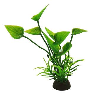 9 Plantas Plástico Acuario 10cm Surtidas Decoración Lomas