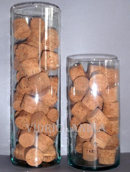 Floreros, Cilindros De Vidiro De 9cm X 25cm Vidriolandia
